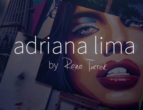 ADRIANA LIMA Lipstick Art by Rene Turrek